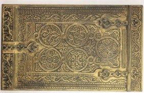 Tiffany Studios Bronze Note Pad Holder, Ca 1900,