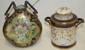 2 Pcs Japanese Porcelain To Include A Covered Jar