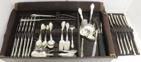 88 Piece Sterling Silver Flatware Set By Towle,