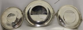 "3 Sterling Silver Trays To Include 9 3/4"" Tray By"