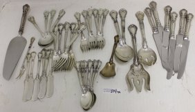 43 Pc Sterling Silver Flatware Set, Chantilly