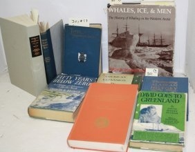 9 Books Related To Whaling And Voyages To Arctic,