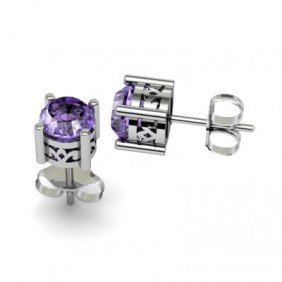 Tanzanite 1.12ctw Earring 14kt White Gold
