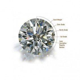 GIA 1.51 Ctw Certified Round Brilliant Diamond H,SI2