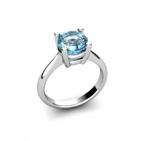 Topaz 2.5ctw Ring 14kt White Gold