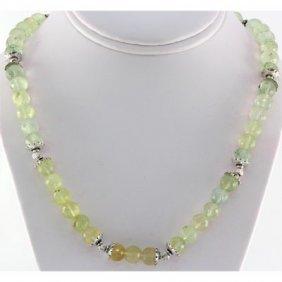 327ctw Faceted Lemon Topaz Silver Necklace