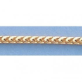 "Pure Gold 16"" 14k Gold-Yellow 1.6mm Franco Chain 6.2g"