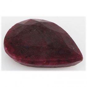 Ruby 101.5ct Loose Gemstone 40x30mm Pear Cut