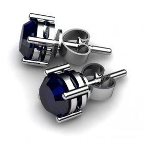 Sapphire 2.10ctw Earring 14kt White Gold