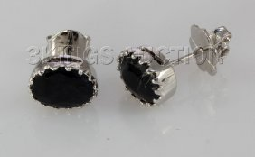 Natural Sapphire 10.31CTW Silver Oval Earring