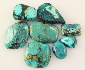 Natural Turquoise 178.16ctw Loose Small Gemstone Lot Of