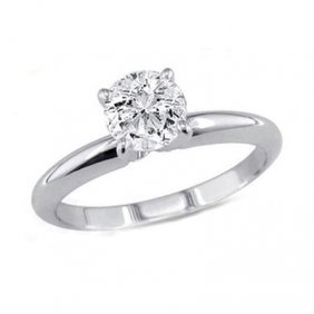 0.85 Ct Round Cut Diamond Solitaire Ring, G-H, VS