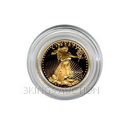 Proof American Gold Eagle One Tenth Ounce - In Capsule
