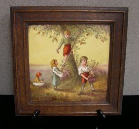 Minton, England Hand-painted Stoneware Tile