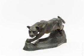 Rippey Bronze Sculpture, Cougar.