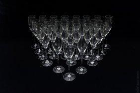 (27) Cartier Champagne Flutes.