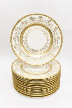 (12) Heinrich & Co. Bavaria Porcelain Dinner Plates.