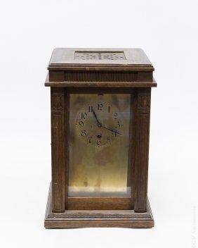 Gustav Becker Mantel Clock Music Box.