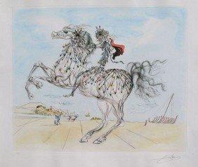 SALVADOR DALI TRANSPARENT HORSEMAN HAND SIGNED LI