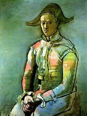 #083 SEATED HARLEQUIN PICASSO ESTATE SIGNED GICL�