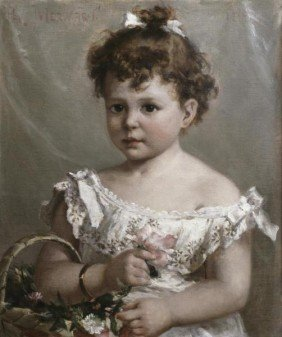 "PAUL MERWART""HELENE LOEB LYON AS A YOUNG GIRL"""