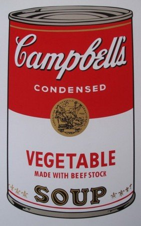 ANDY WARHOL CAMPBELL'S VEGETABLE SOUP CAN SERIGRA