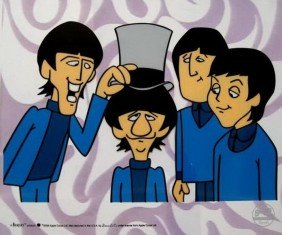 THE BEATLES RINGO TOP HAT ANIMATION CARTOON SERIC