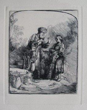 REMBRANDT ABRAHAM CASTING OUT HAGAR & ISHMAEL ETC