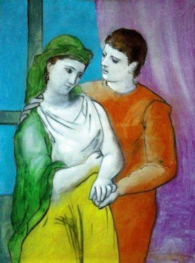 #80 THE LOVERS PICASSO ESTATE SIGNED GICL�E
