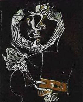 #137 PAINTING IN BLACK PICASSO ESTATE SIGNED GICL