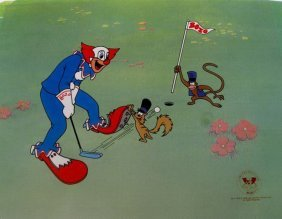 BOZO THE CLOWN BOZO PLAYING GOLF ANIMATION SERICE