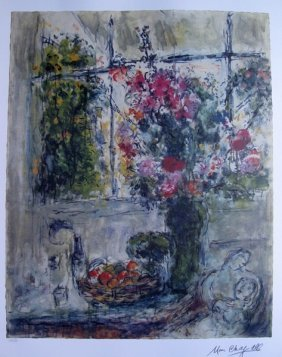 MARC CHAGALL FRUITS AND FLOWERS LIMITED ED. LITHO