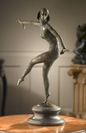 ART DECO DANCER - BRONZE SCULPTURE