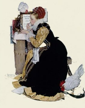 """NORMAN ROCKWELL  """"SUMMER STOCK"""""""