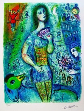 MARC CHAGALL CIRCUS FAN DANCER LIMITED ED. SMALL