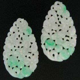 Natural Green White Jade Loose