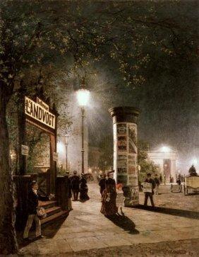 CARL SALTZMANN - FIRST ELECTRIC STREET LIGHT, BERLI
