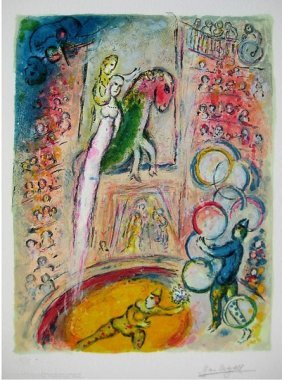 MARC CHAGALL CIRCUS IV LIMITED ED. GICLEE