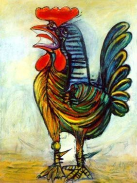 #49 THE ROOSTER PICASSO ESTATE SIGNED GICL�E