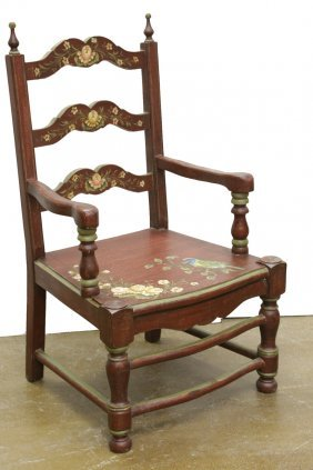 Hand Painted Arm Chair
