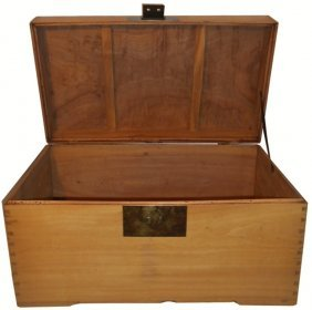 Asian Camphor Wood Blanket Chest.