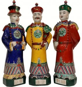 Three Sovereigns Chinese Porcelain Figurines