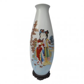 Oriental Porcelain Vase Glazed Beauties Oriental