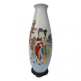 Oriental Porcelain Vase Glazed Beauties Oriental