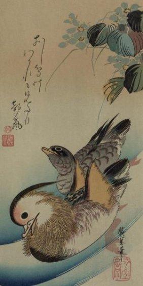 Ando Hiroshige - Mandarin Ducks, 1840