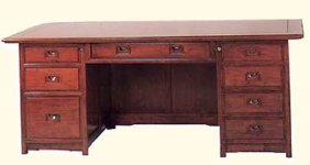 Rosewood Executive Desk With Eight Drawers