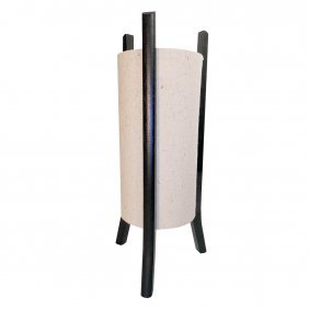 """18""""h. Jute Fiber Modern Chinese Table Lamp With Black"""