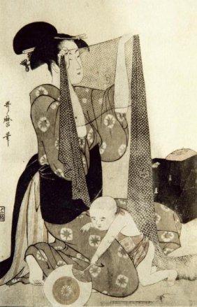Kitagawa Utamaro - Mother And Child