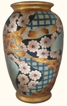 Chinese Porcelain Tong Chi Imari Vase In Art Deco Style