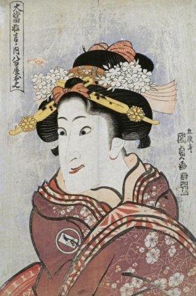 Utagawa Kunisada - The Actor Iwai Hanshiro